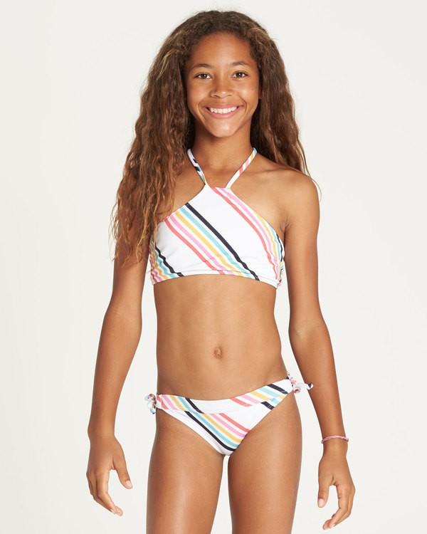 0 Girls' Seeing Rainbows High Neck Bikini Set  Y224TBSE Billabong