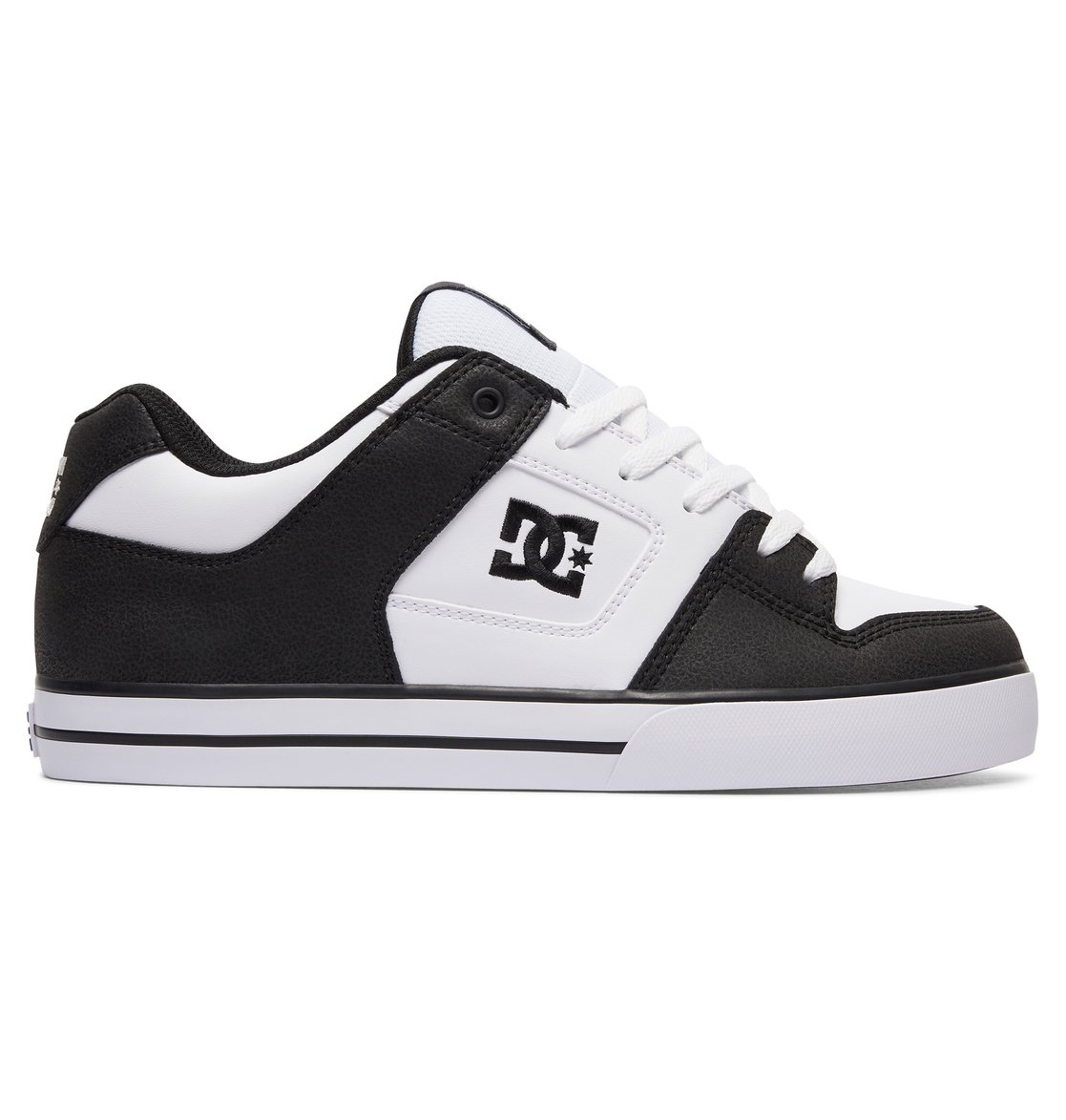 DC Shoes Men's Pure M Low Top Shoes White Black (XKWK) 11
