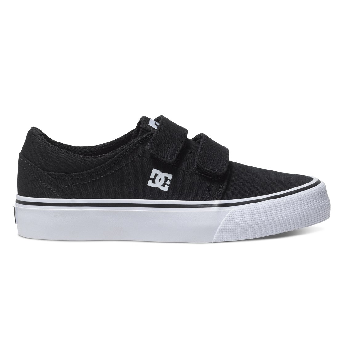 DC Trase V, Sneakers Basses Garçon, Noir (Black/White), 37 EU
