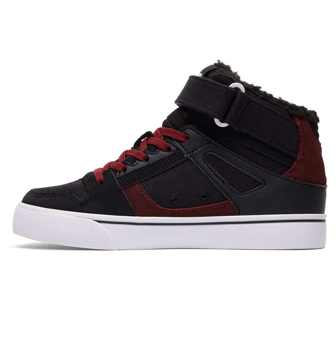 DC Shoes Spartan High WNT EV, Jungen Sneaker, Schwarz (Black/Dark Red), 30 EU (11.5 UK)
