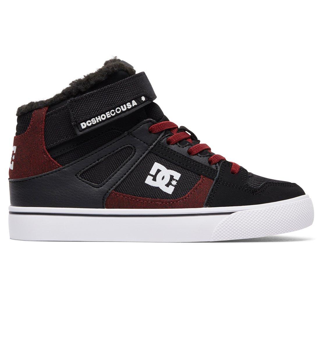 DC Shoes Spartan High WNT EV, Jungen Sneaker, Schwarz (Black/Dark Red), 30 EU (11.5 UK)