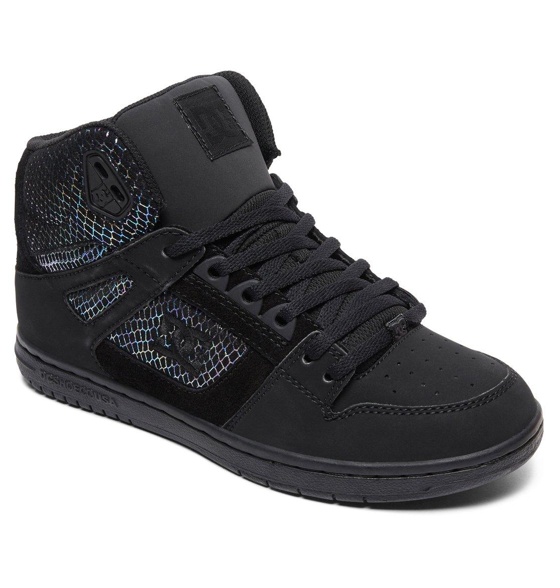 1 Women s Pure SE High-Top Shoes Grey ADJS100116 DC Shoes 2ba81f974a