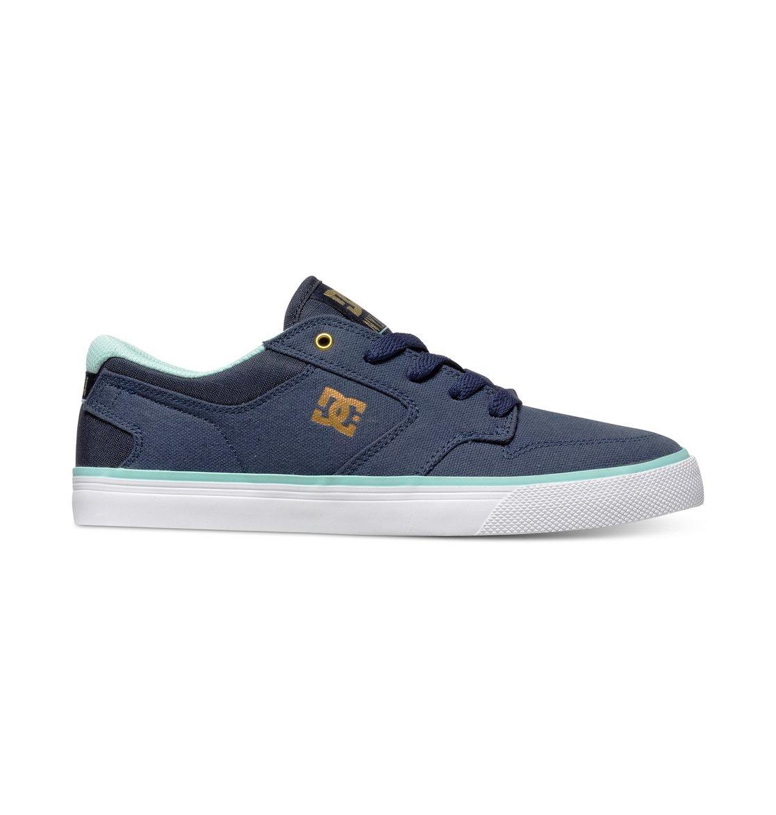 DC - Jungen Nyjah 2 Vulc Lowtop Schuhe, Black/Blue, 36 EU / 5 US