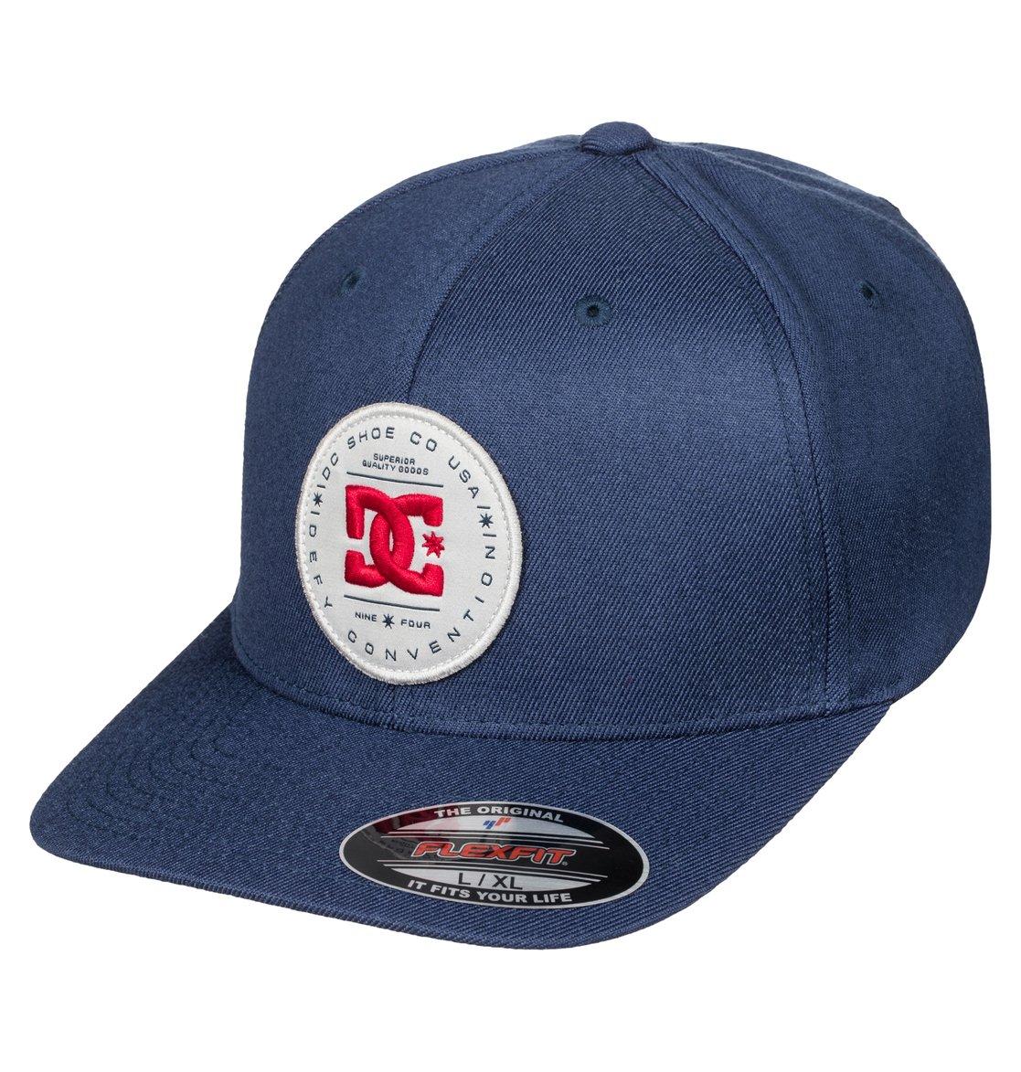 0 Aleborn Flexfit Hat Blue ADYHA03304 DC Shoes a8643b238a9