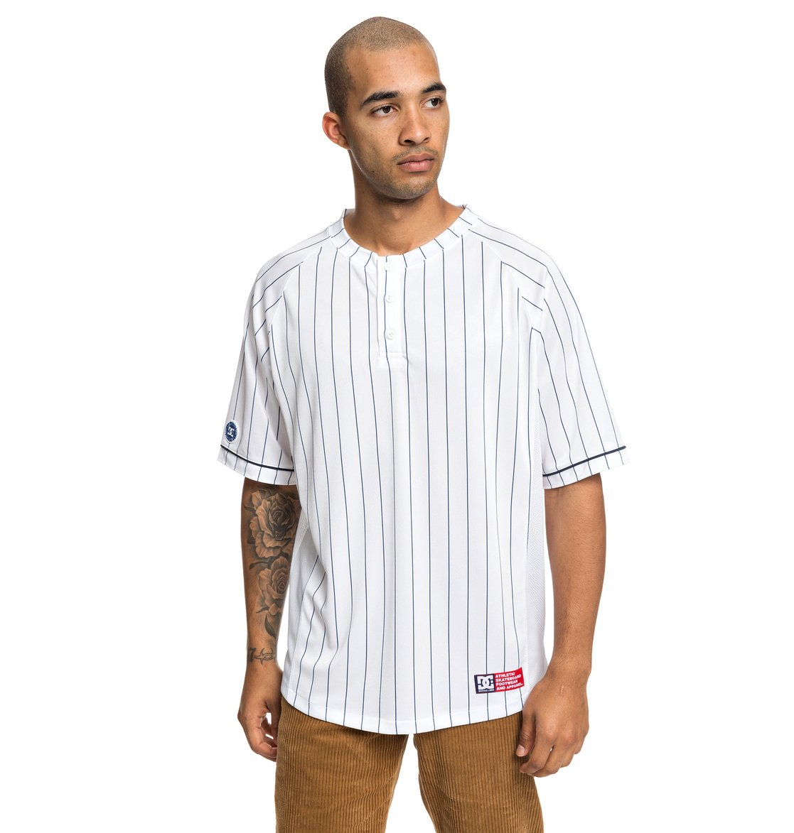 0 Skate - Camiseta de Béisbol de Manga Corta para Hombre Blanco ADYKT03128  DC Shoes cd9de141488
