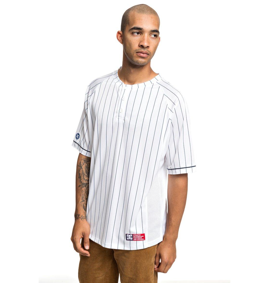 1 Skate - Camiseta de Béisbol de Manga Corta para Hombre Blanco ADYKT03128  DC Shoes aa4761d2ac3