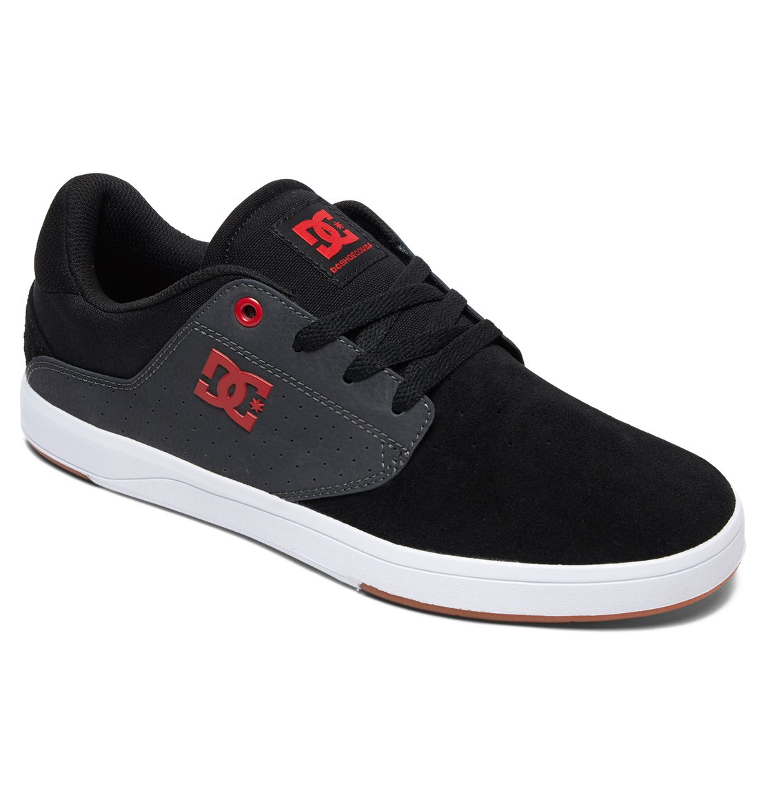 1 Plaza S Skate Shoes Black ADYS100319 DC Shoes 6e808abc94cd6