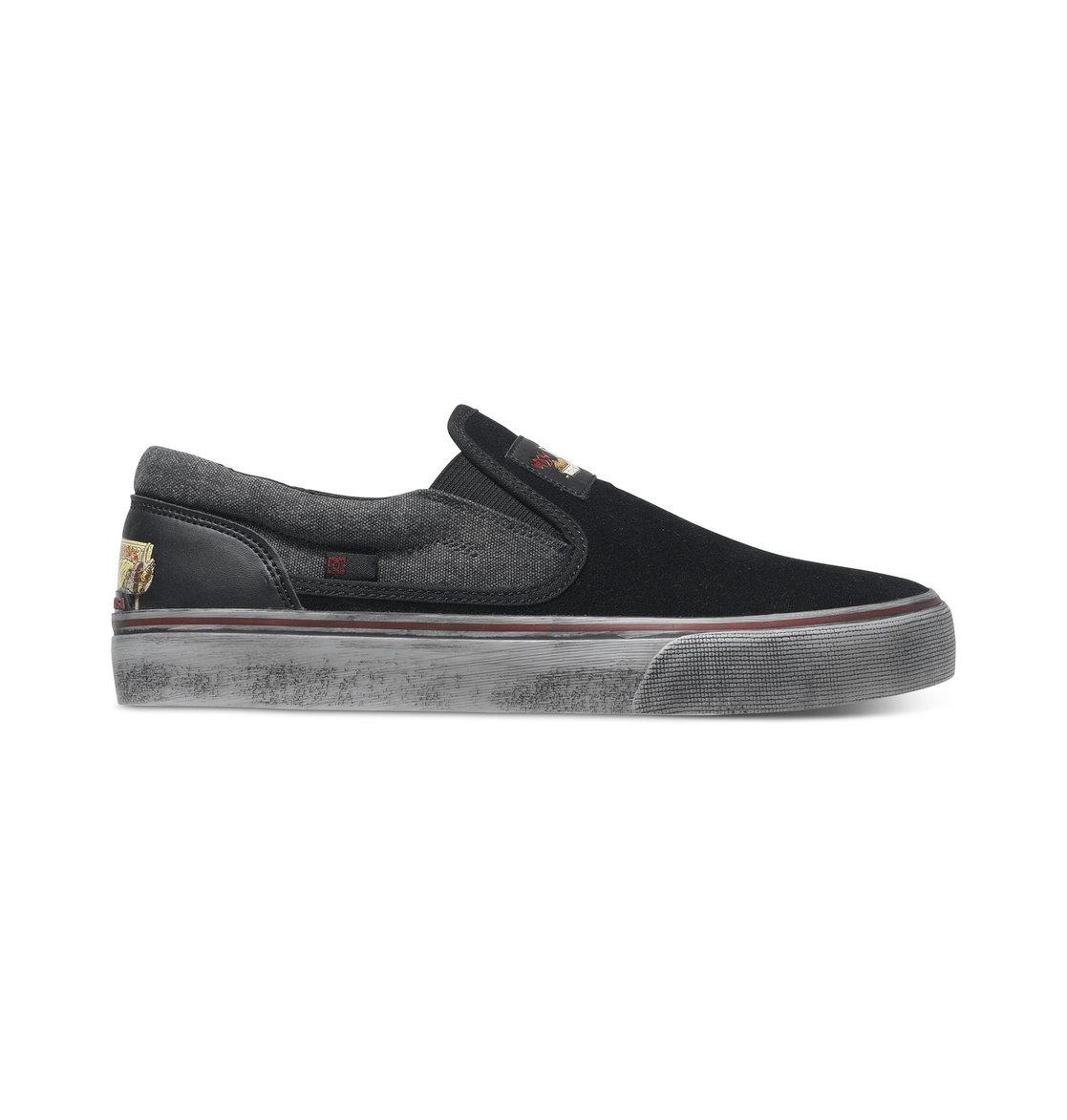DC Frauen Trase Slip-On X Skate-Schuhe, EUR: 43, Black/White