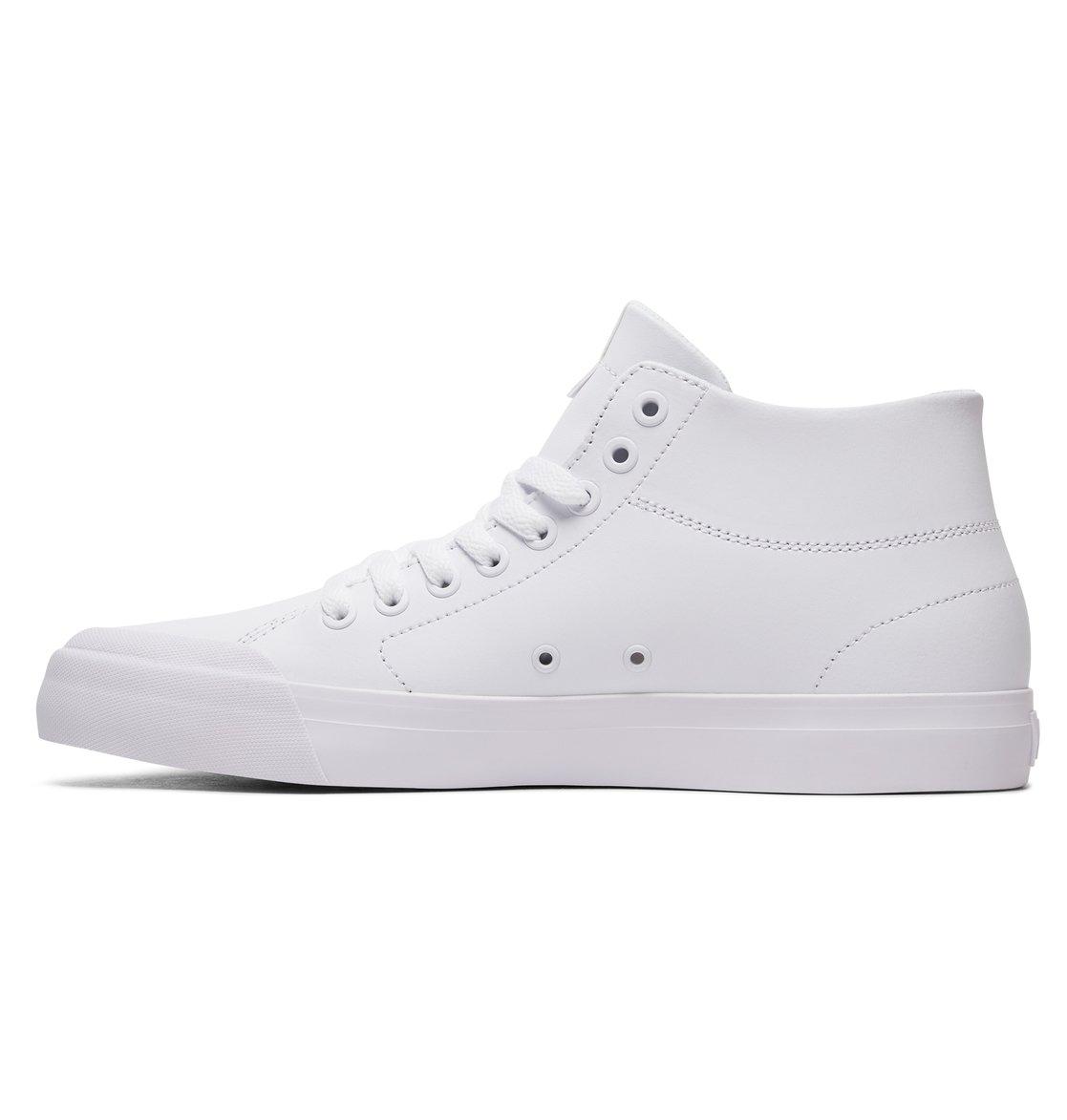 DC Hombres Evan Smith Hi Zero Zapatos blancos Talla 8