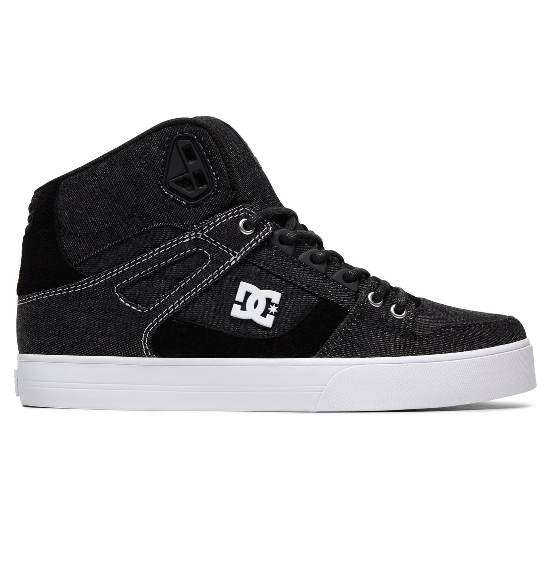 DC Shoes Pure High-Top Sneaker(Men's) -White/Black/Red