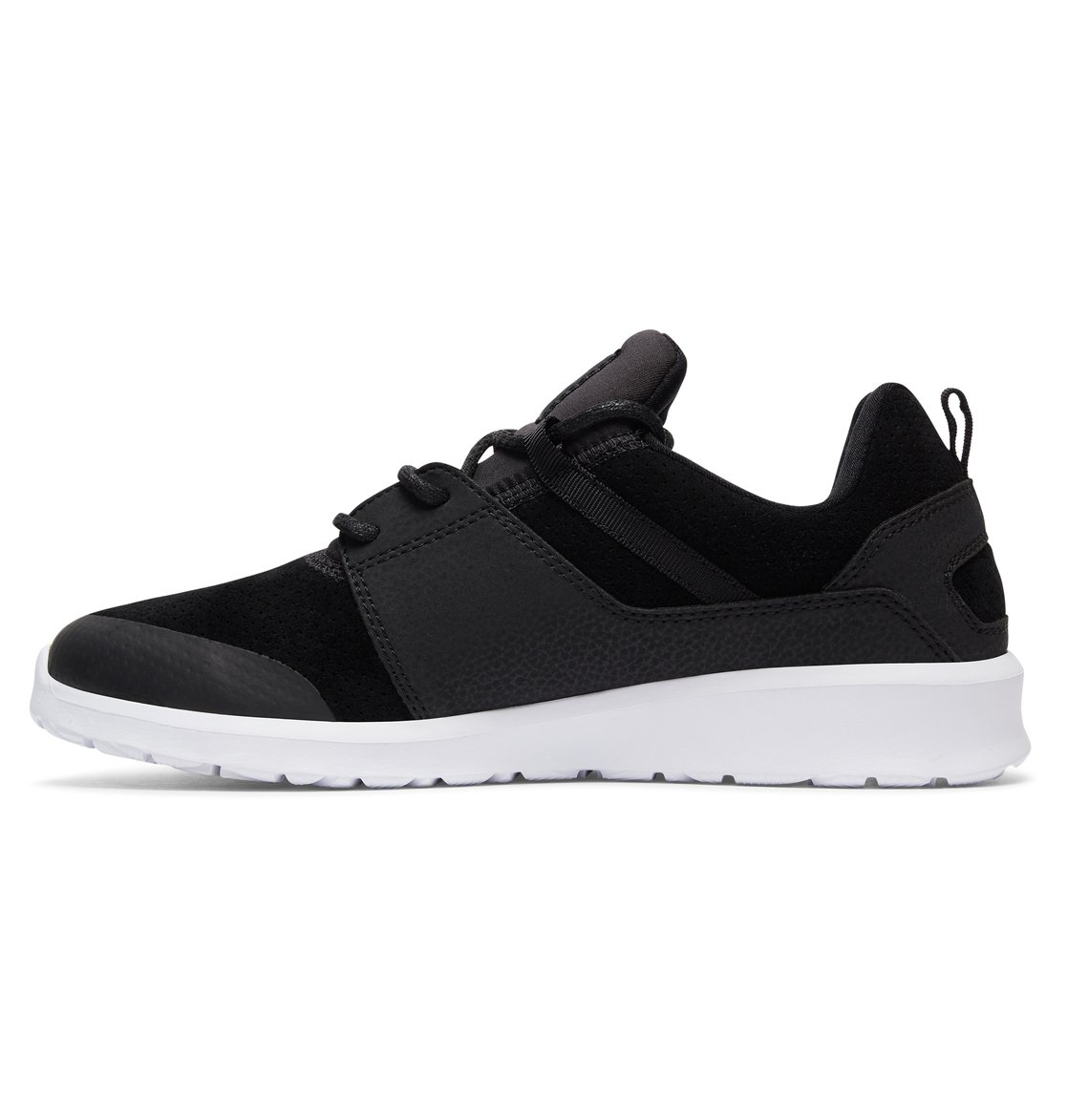 DC Shoes Men's Heathrow Sneakers Low Top Shoes Black White (BKW) 10
