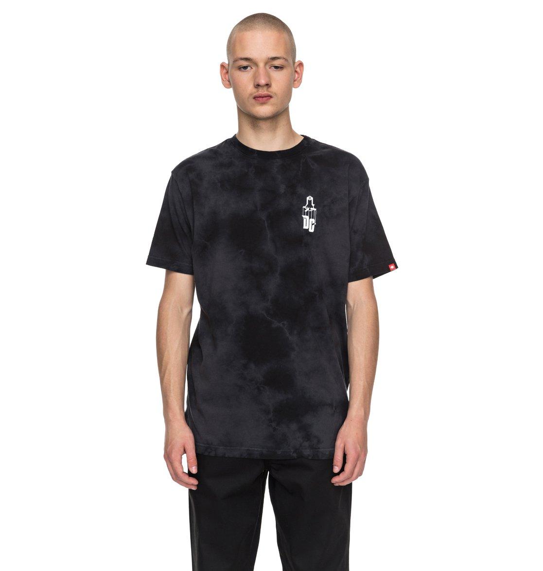 Tee Shirt Sk8 Mafia Texture Black - DC Shoes 6SZKR