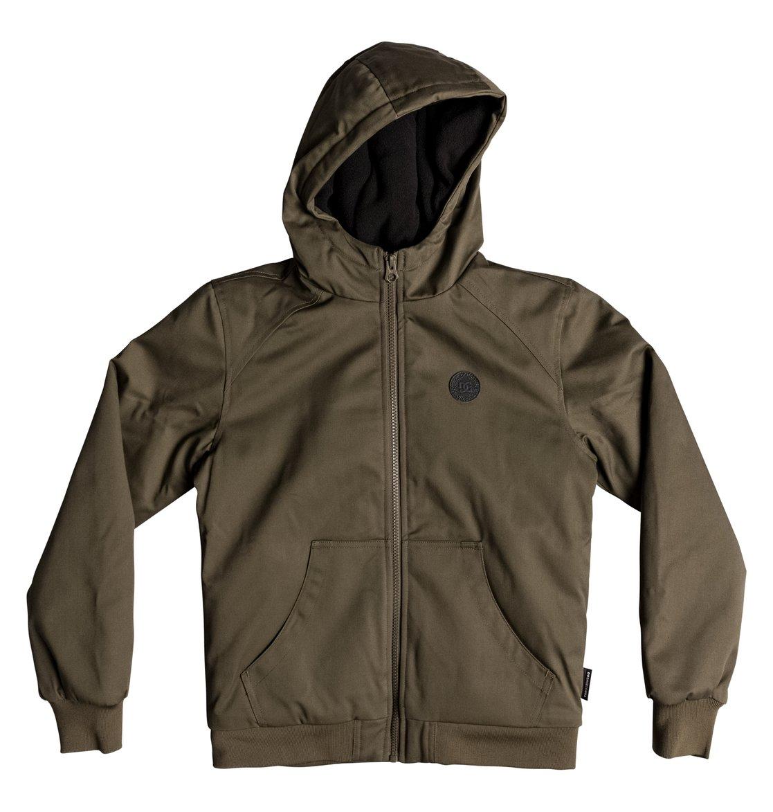 Boy S 8 16 Ellis Water Resistant Hooded Jacket Edbjk03035 Dc Shoes