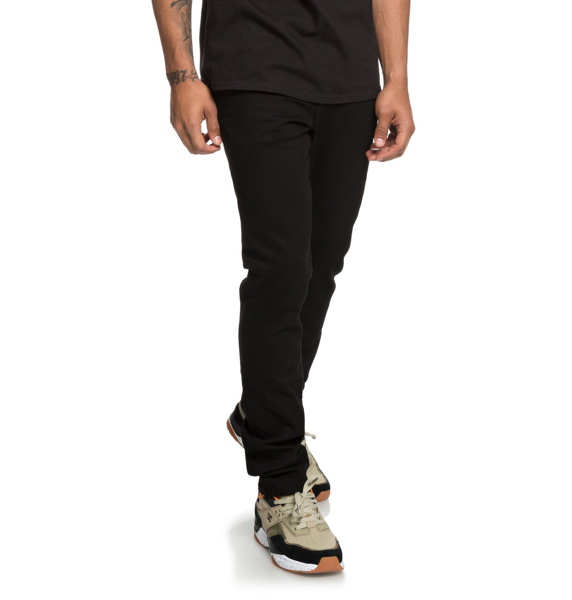 Image is loading DC-Shoes-Worker-Black-Slim-Fit-Jeans-for- ae9747d4f6