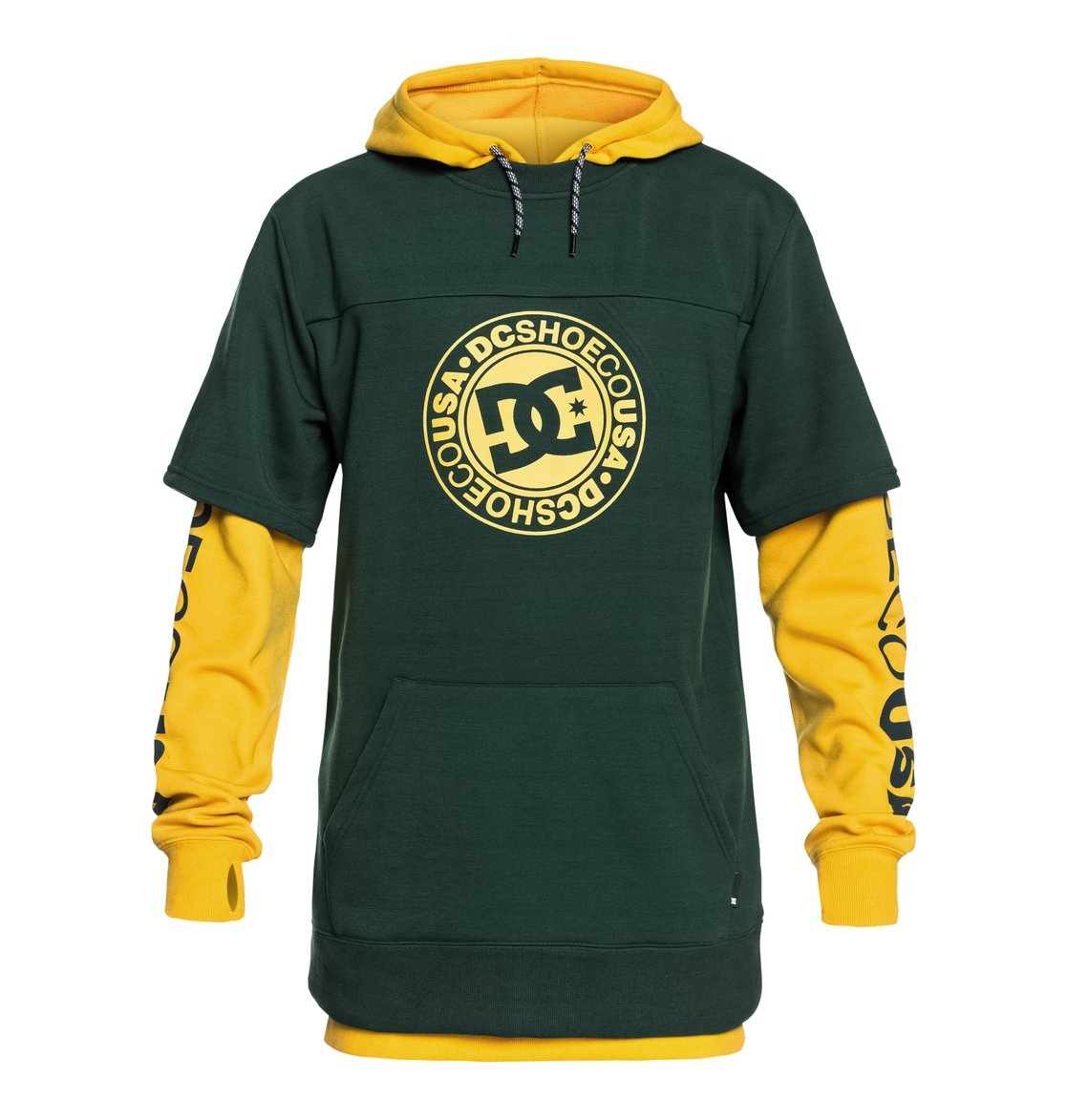 0 Dryden - Technical Hoodie for Men Green EDYFT03363 DC Shoes c34ccc2e38