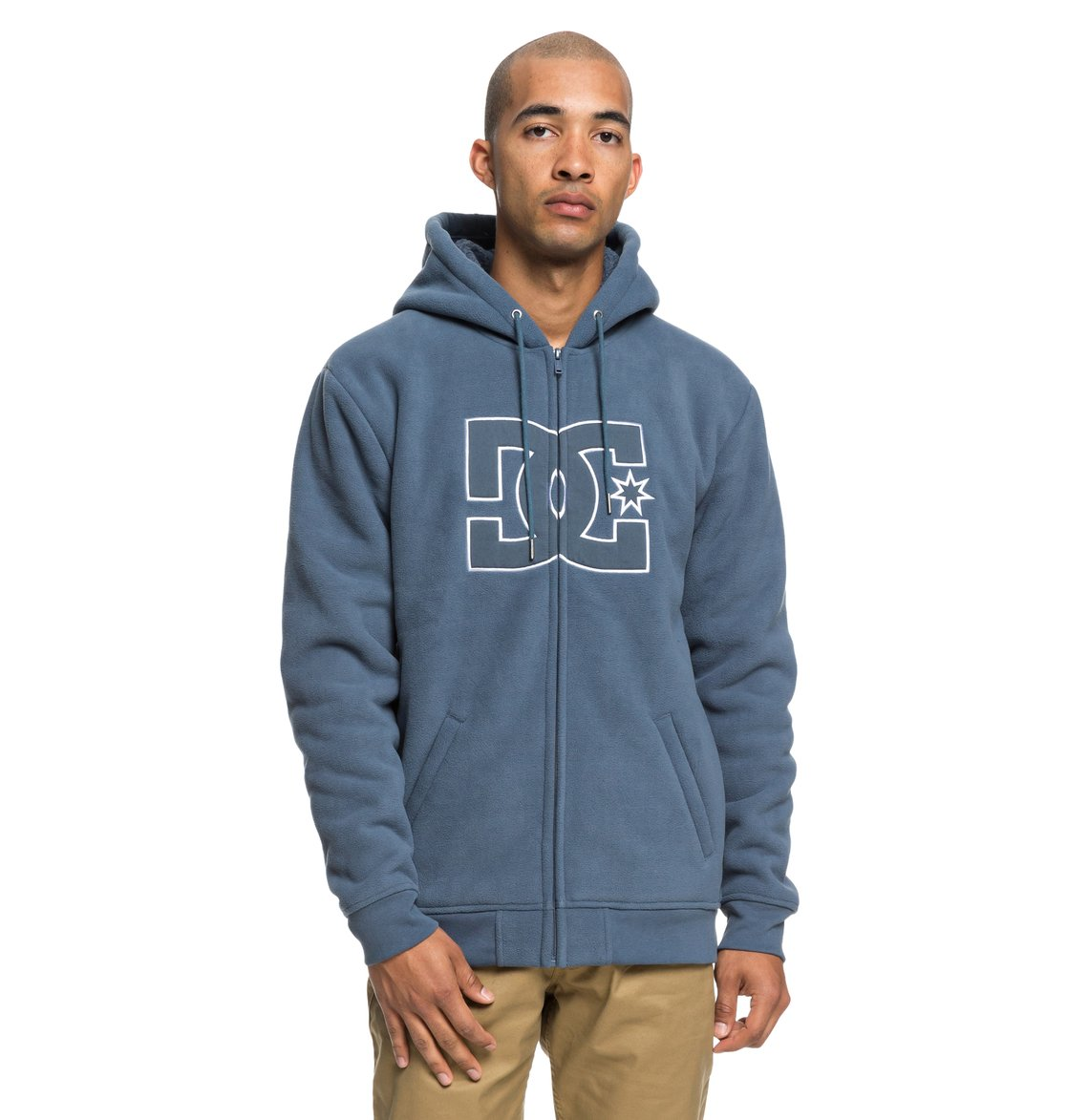 Pour Zippé Homme À Dc Shoes New Capuche Star Edyft03399 Sweat Sherpa qpg8q
