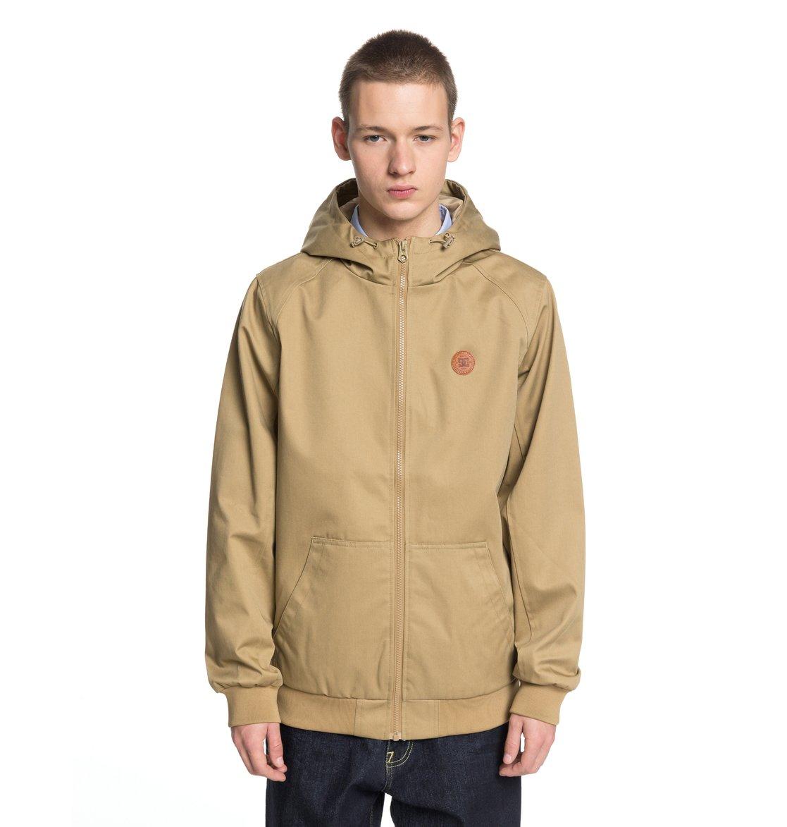 0 Ellis Light 3 - Water-Resistant Hooded Jacket for Men Brown EDYJK03142 DC  Shoes d7b1cddd62f