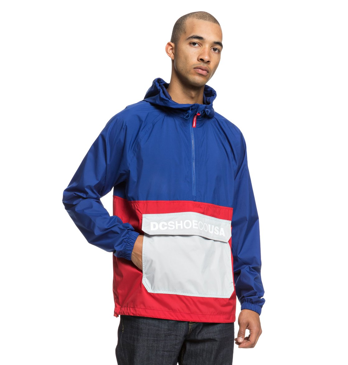 Image is loading DC-Shoes-Sedgefield-Water-Resistant-Hooded-Anorak -EDYJK03167 101ae27a0ebd