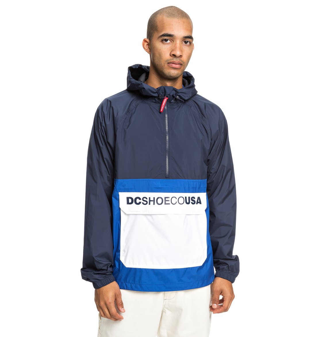 0 Sedgefield Water Resistant Hooded Anorak Blue EDYJK03167 DC Shoes e5f231b9b8a1
