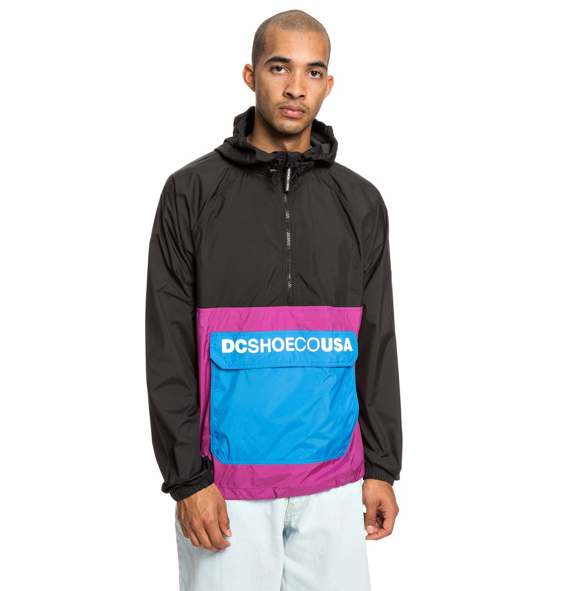 0 Sedgefield - Water Resistant Hooded Anorak Pink EDYJK03167 DC Shoes 07633fc5cb06