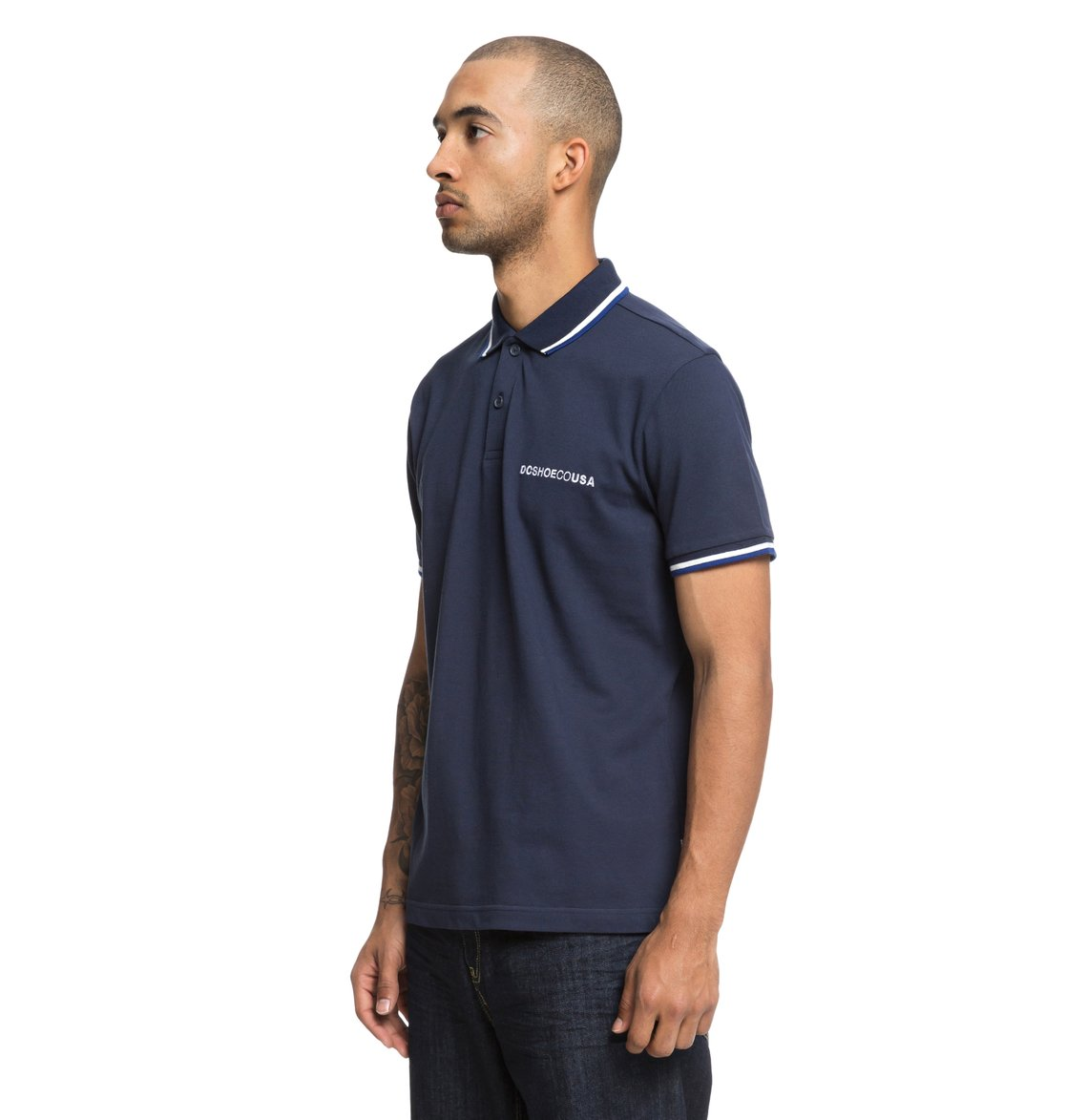 1 Lakebay - Short Sleeve Polo Shirt for Men Blue EDYKT03411 DC Shoes 5ce4ddc23df