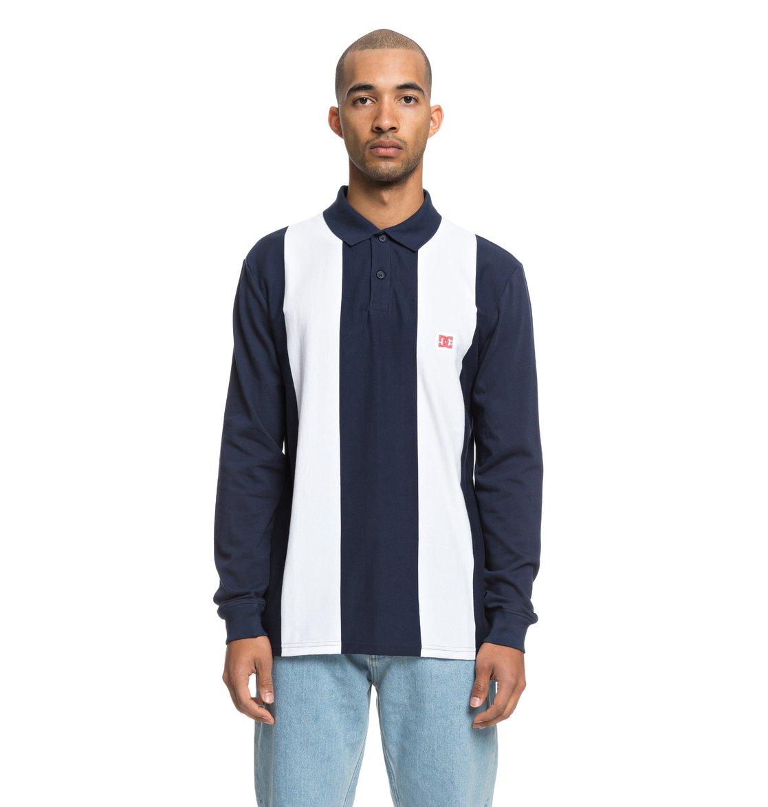 34869f8b0e111 0 Crosstown - Long Sleeve Polo Shirt for Men Blue EDYKT03424 DC Shoes