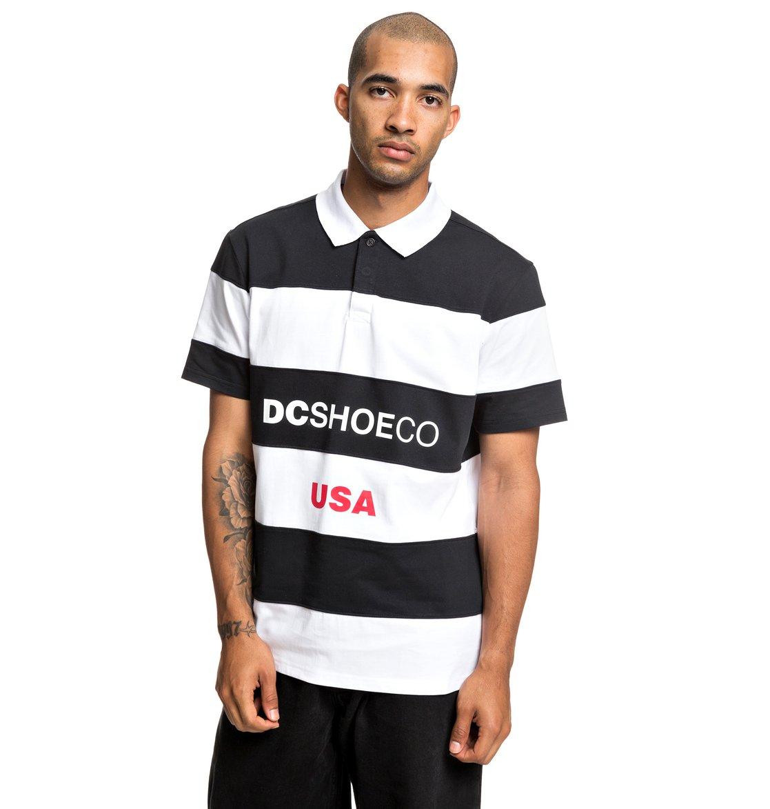 0 Finsterwald - Camisa Polo de Manga Corta para Hombre Negro EDYKT03438 DC  Shoes a9f74db291e