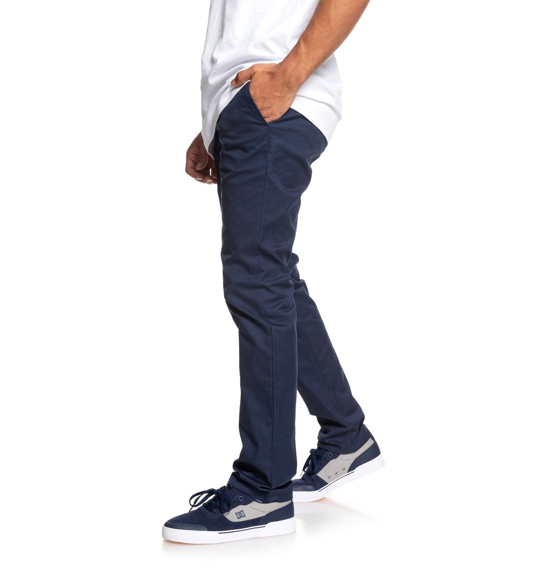1 Worker - Slim Fit Chinos for Men Blue EDYNP03135 DC Shoes 81a84a429a