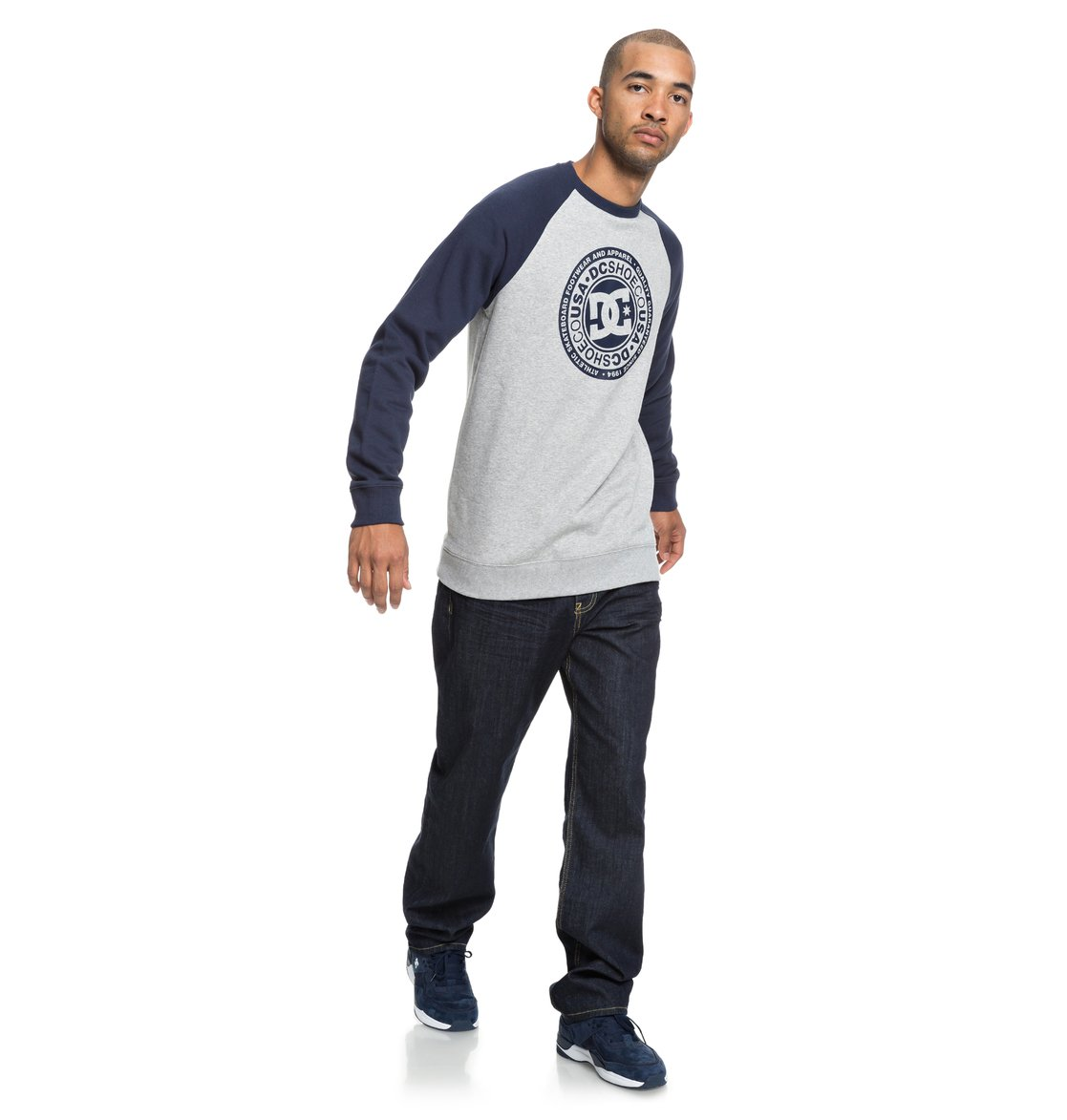 ea65aa2b47e18 3 Circle Star - Sweatshirt pour Homme Bleu EDYSF03177 DC Shoes