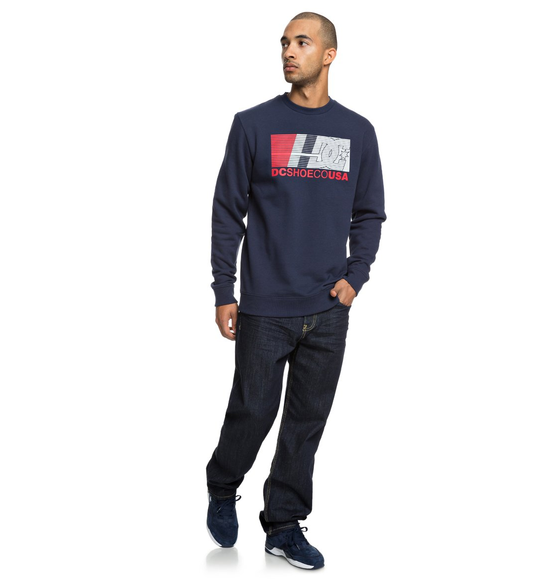 65785a42bfca5 3 High Value - Sweatshirt pour Homme Bleu EDYSF03180 DC Shoes