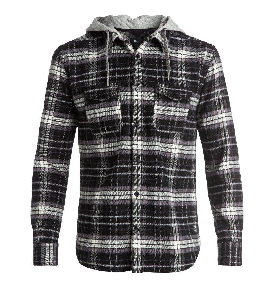 DC Men's Runnels Long Sleeve Shirt, Runnels Black, Small