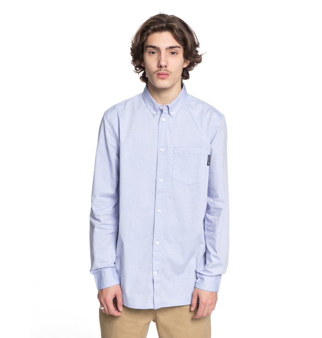 DC-Shoes-Classic-Oxford-Light-Camisa-de-Manga-Larga-para-Hombre-EDYWT03183