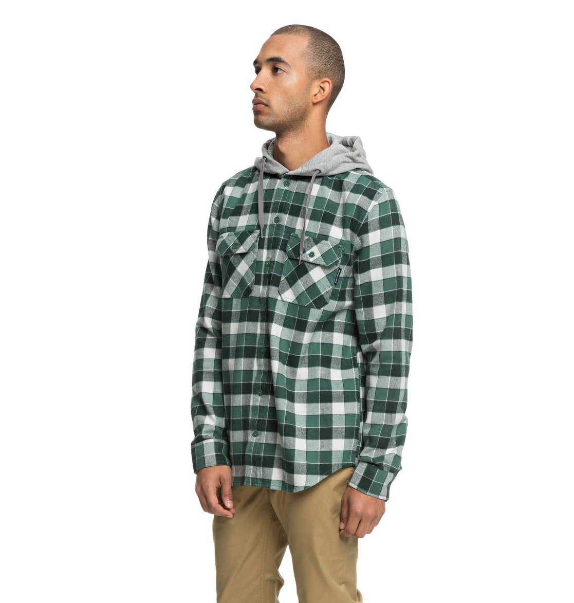 905ecf22902f DC Shoes™ Runnels Long Sleeve Hooded Flannel Shirt EDYWT03201 2 2 of 5 ...