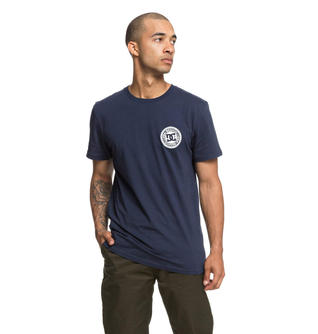 0 Circle Star - T-Shirt for Men Blue EDYZT03824 DC Shoes 348ebeab0a0c2