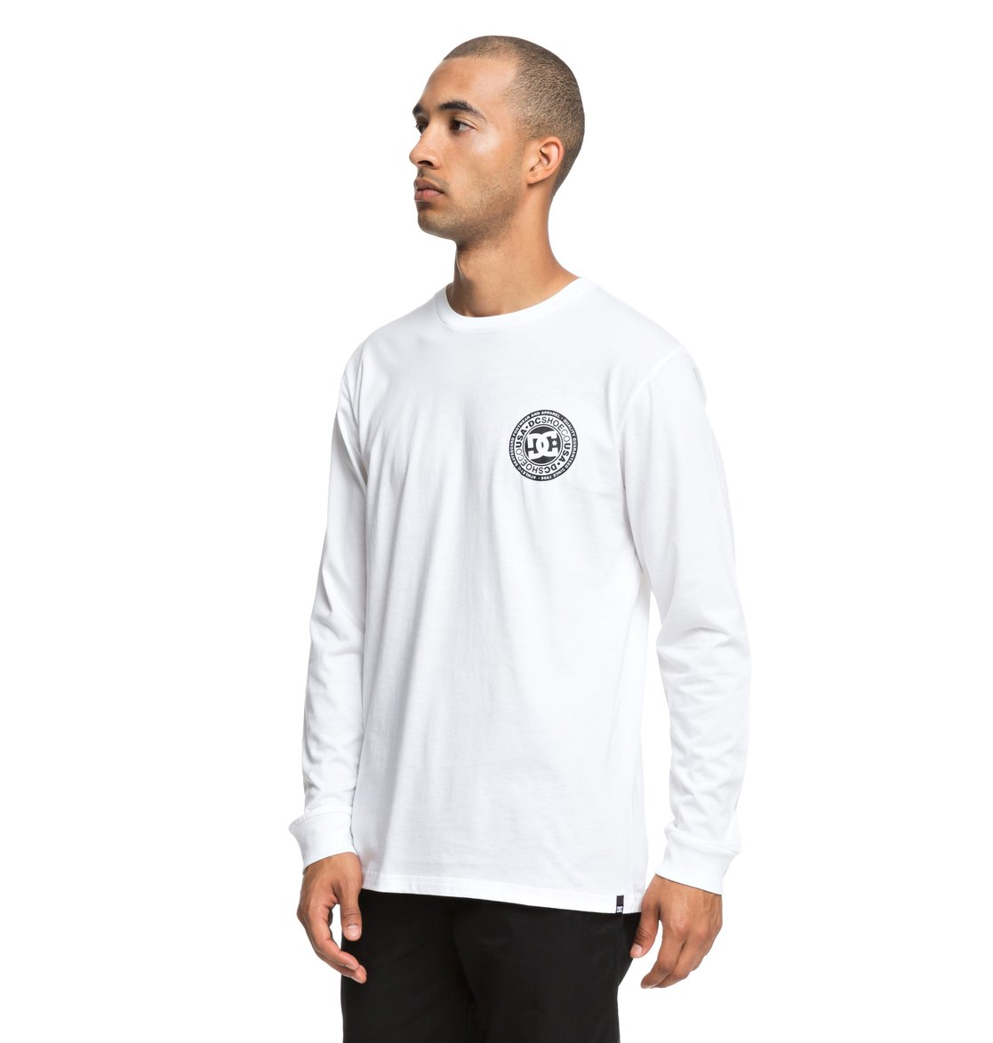 DC Shoes Circle Star-Camiseta de Manga Larga para Hombre