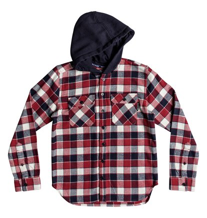 Runnels - Long Sleeve Hooded Flannel Shirt for Boys 8-16  EDBWT03046