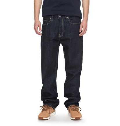 Worker Indigo Rinse - Relaxed Fit Jeans for Men  EDYDP03336