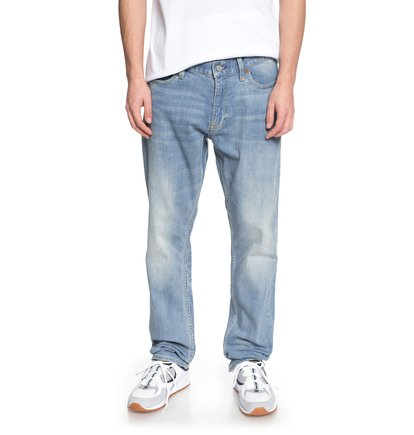 Worker Light Indigo Blue - Straight Fit Jeans for Men  EDYDP03354