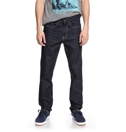 Worker Indigo Rinse - Slim Fit Jeans for Men  EDYDP03369