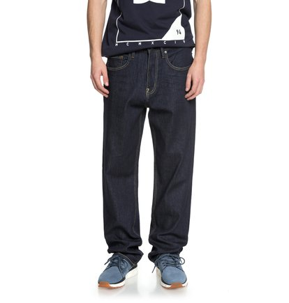 Worker Indigo Rinse - Relaxed Fit Jeans for Men  EDYDP03371