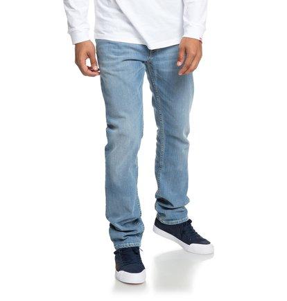 Worker Light Bleach Indigo Blue - Straight Fit Jeans for Men  EDYDP03374
