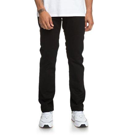 Worker Black - Straight Fit Jeans for Men  EDYDP03385