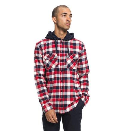 Runnels - Long Sleeve Hooded Flannel Shirt for Men  EDYWT03201