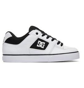 DC Shoes Men's Pure M Low Top Shoes White Black (XKWK) 11.5 xvB9eT