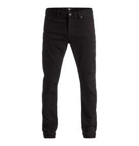 Black Destroyed - Slim Fit Jeans  EDYDP03272