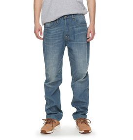 Worker Light Indigo Bleach - Relaxed Fit Jeans for Men  EDYDP03342