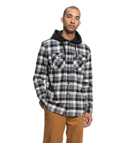 Runnels - Long Sleeve Hooded Flannel Shirt for Men  EDYWT03201
