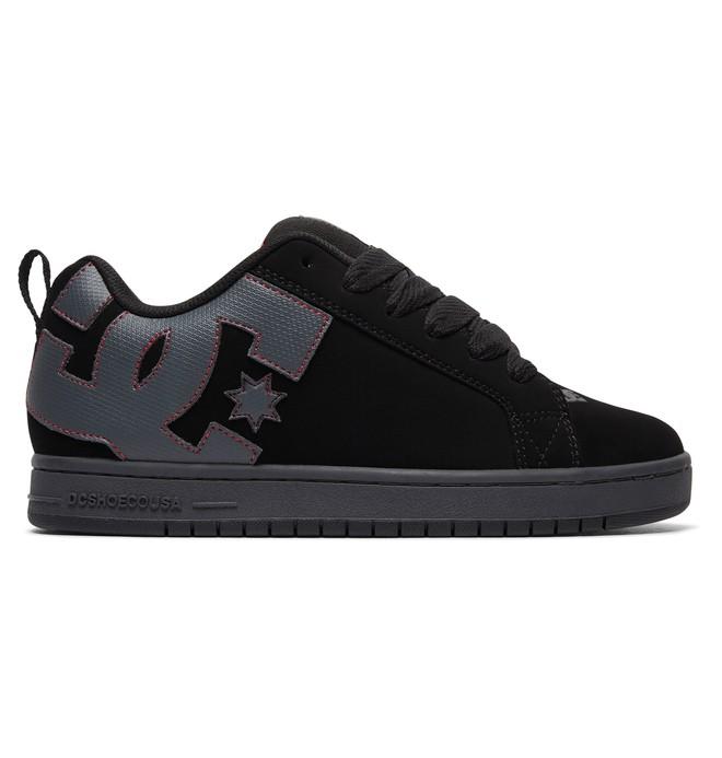 0 Men's Court Graffik Shoes Black 300529 DC Shoes
