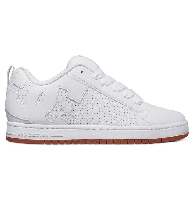 0 Men's Court Graffik Shoes White 300529 DC Shoes