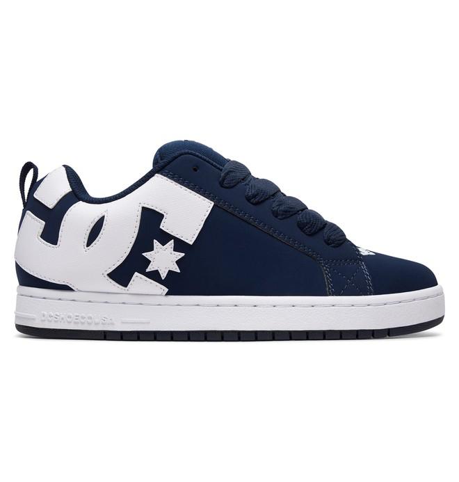 0 Men's Court Graffik Shoes Blue 300529 DC Shoes